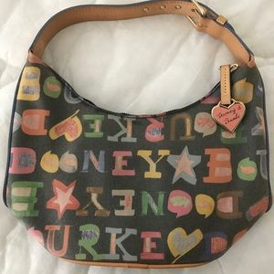 Dooney & Bourke Black/Rainbow handbag